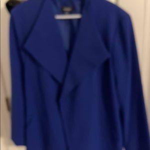 Nine W. cobalt blue flared jacket . Size 24.